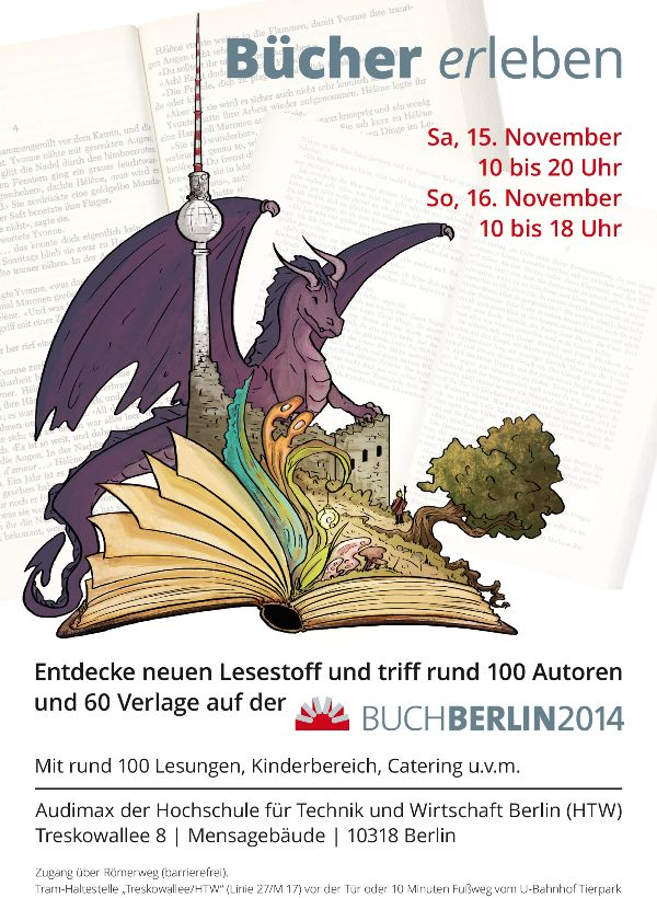 1. Buch Berlin - die neue Berliner Buchmesse - Plakat 2014